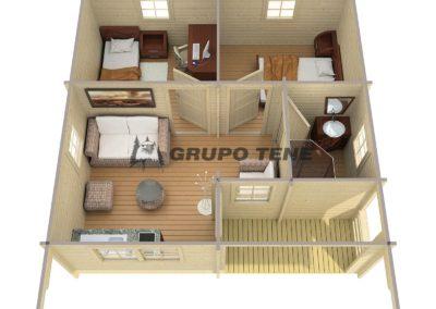 Casa de madera llave en mano modelo reus plano