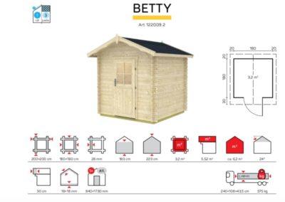 caseta de jardin de madera modelo betty detalles