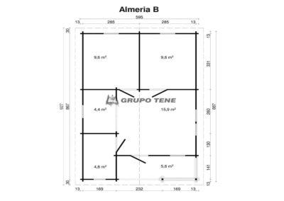 plano casa de madera almeria b