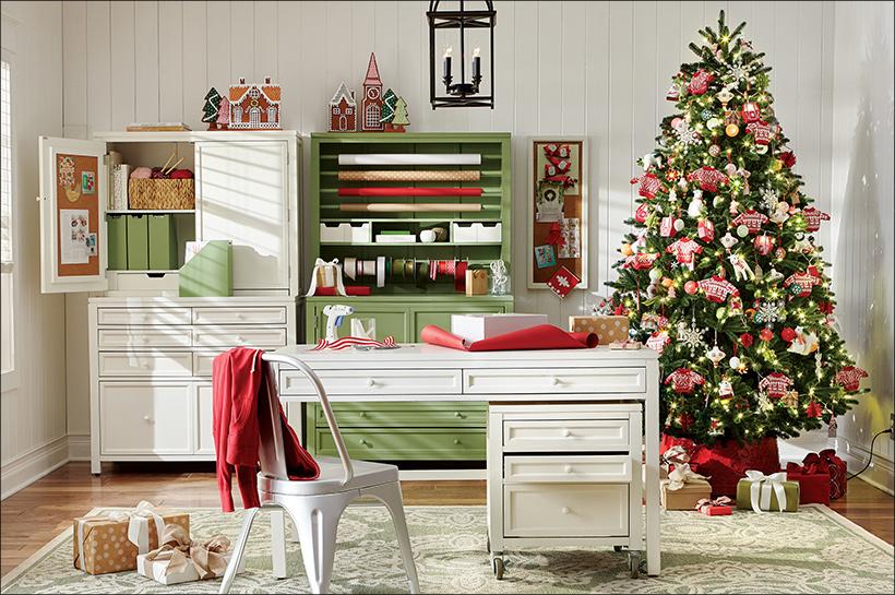 decoracion navidad casas de madera