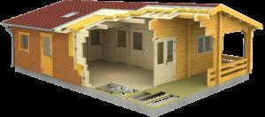 como construir casa de madera exterior