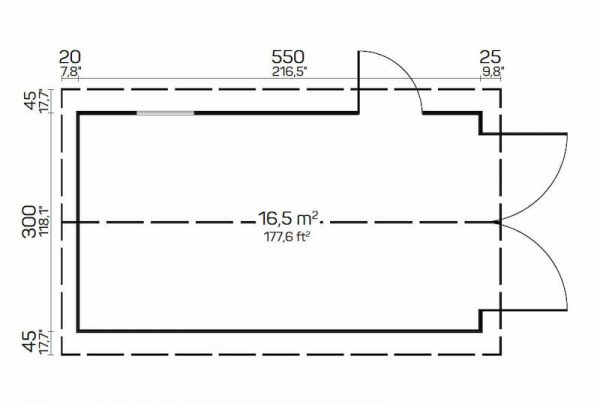 Plano Garaje de madera A