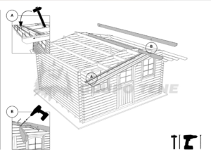 Tejado casas de madera