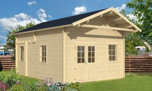 caseta de jardin de madera Gotland F con altillo