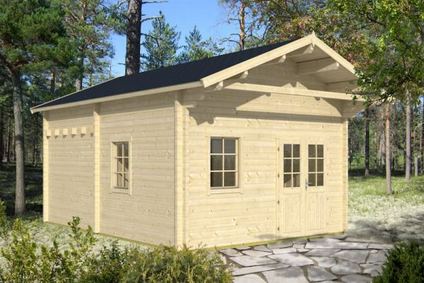 caseta de jardin de madera Gotland G con altillo
