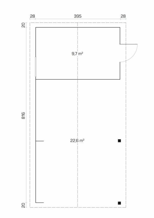 plano Garaje de madera Rauma
