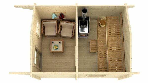 Sauna de madera Joonas
