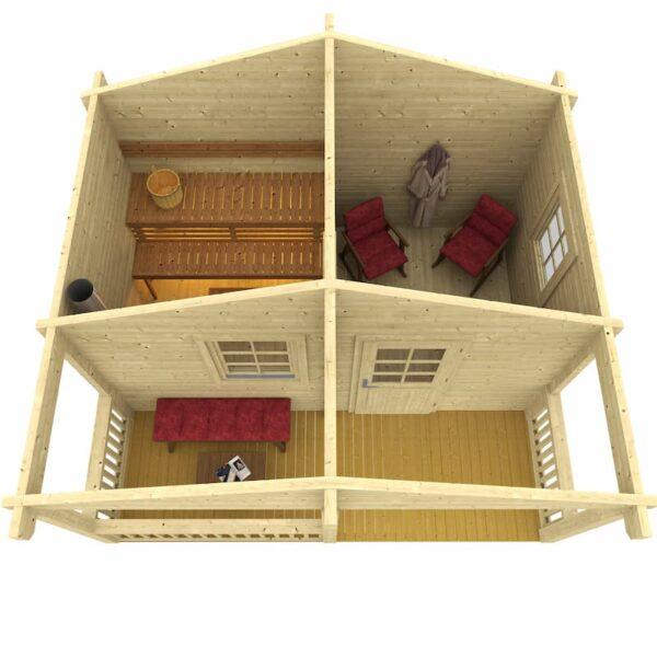 Sauna de madera Kalevi