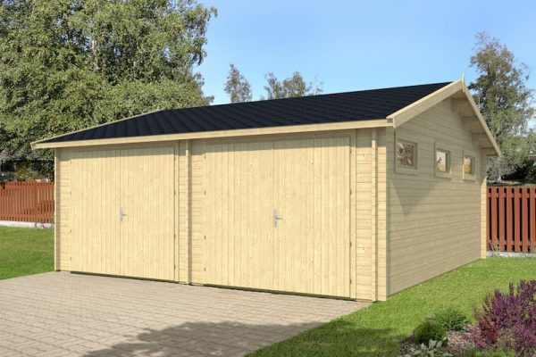 Garaje de madera Kotka