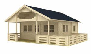 Casa de madera Kit Automontaje con Altillo Mantova