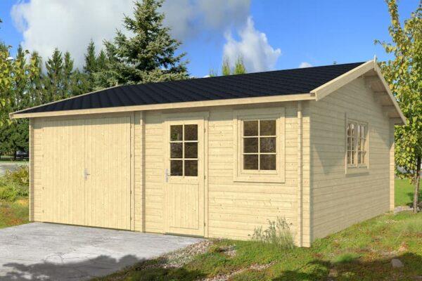 Garaje de madera Mikkeli