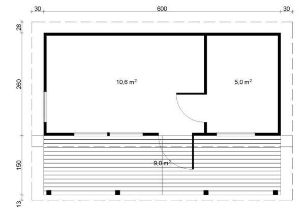 Sauna de madera Pihasauna 26