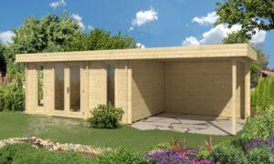 Caseta de Jardín de madera con porche Oriental 5