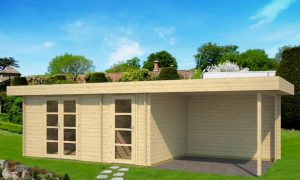 Caseta de Jardín de madera con porche Oriental 4