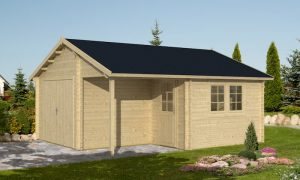 Garaje de madera Oulu