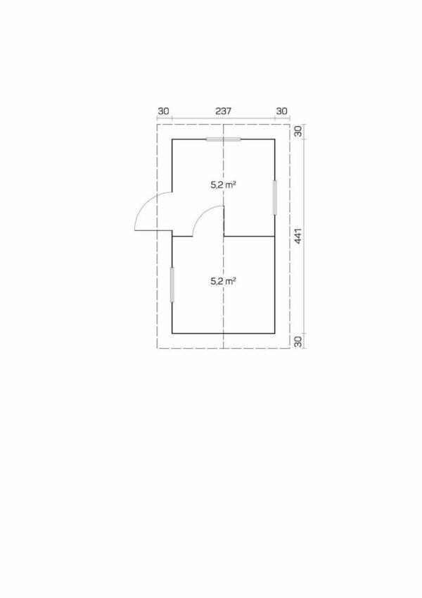 Plano Sauna de madera Piha-Tuuri 11