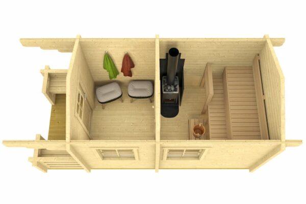 Sauna de madera Piha-Tuuri 10