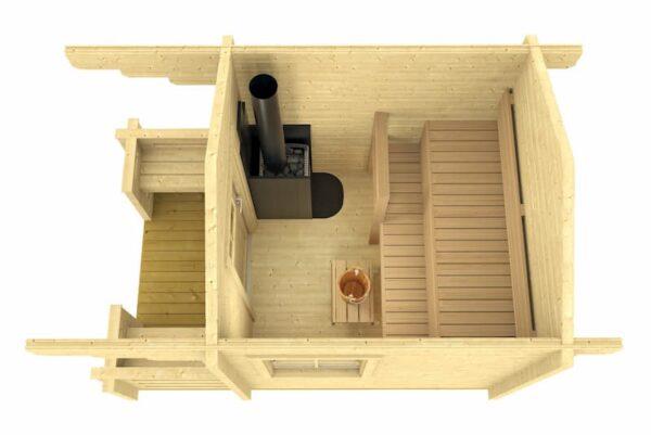 Sauna de madera Piha-Tuuri 7