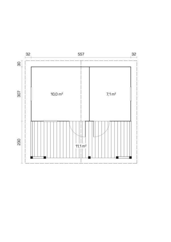 Sauna de madera eino