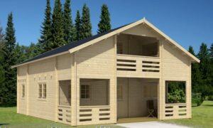 Casa de Jardín de madera con altillo Serena