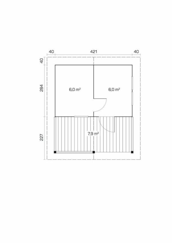 Plano Sauna de madera Tervo