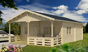 Casa de Jardín de madera con altillo Toledo D